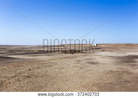 Skeleton Coast, Namibia - August 10, 2018: Ruins In The Middle Of Skeleton Coast, Namibia