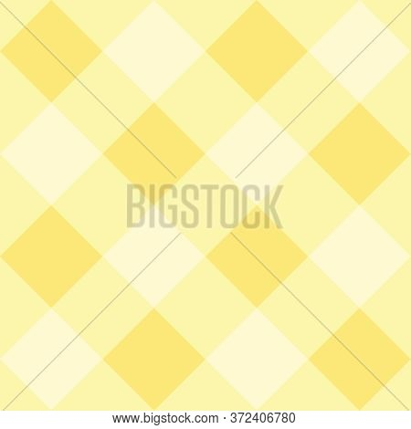 Seamless Yellow Plaid Vector Background - Checkered Tile Pattern Or Grid Texture For Web Design, Des