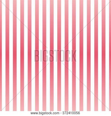 Seamless Vector Pastel Pink Stripes Background Or Pattern Illustration. Desktop Wallpaper With Strip