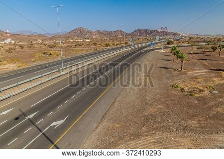 View Of A Freeway Near Bahla, Oman