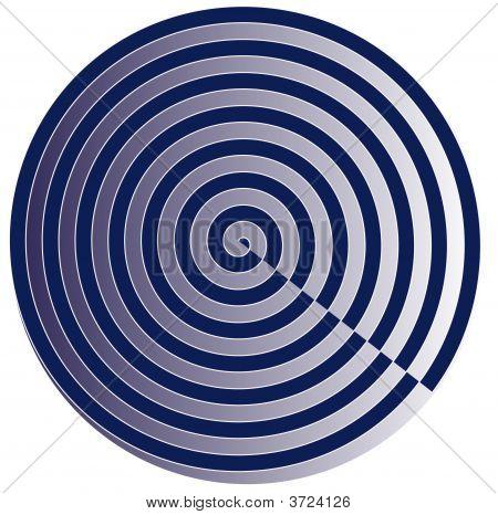 Blue Spiral Circle