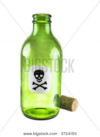 Gift Flasche auf einem weißen