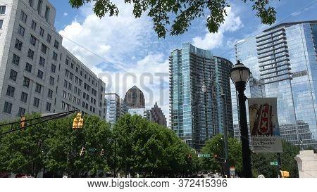 Typical Street View In Atlanta Midtown - Atlanta, Georgia - April 22, 2016