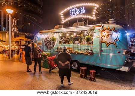 Dubai, Uae - March 12, 2017: Frings Food Truck In Dubai Marina, United Arab Emirates