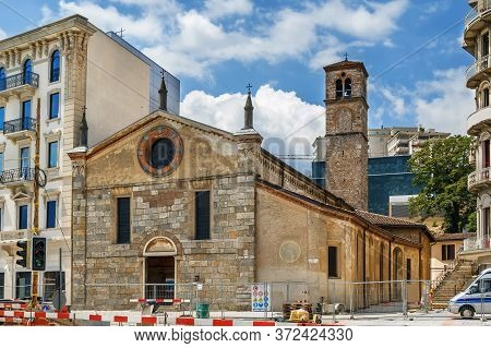 The Church Of Santa Maria Degli Angeli Is A Late Romanesque Religious Building Located In Lugano, Sw