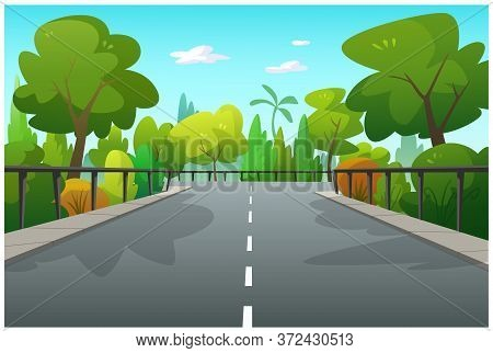 Illustration Of Trees And Graphics Of The Forest In The Morning.