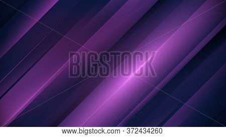 Purple Abstract Technology Concept Background. Minimal Geometric With Gradient. Vector Illustration