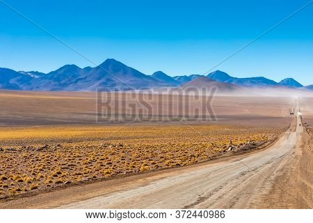 Scenic Road In The Atacama Desert, Chile