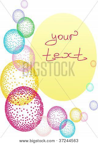 The abstract background in a vector