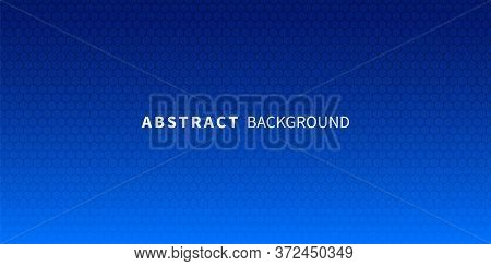 Abstract Background Honeycomb Grid. Vector Illustration. Blue Honeycomb Abstract Minimal Background.