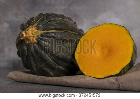 Typical Pumpkin From Peru, Also Called As: Zapallo Loche Or Lambayeque.