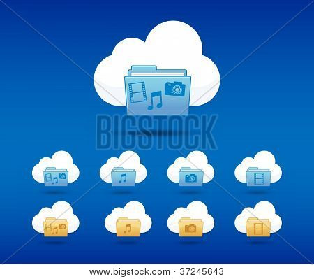 icons cloud computing