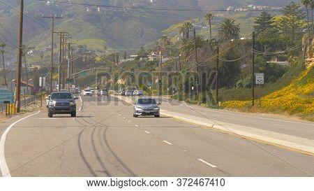 Pacific Coast Highway Pch At Malibu - Malibu, United States - March 29, 2019