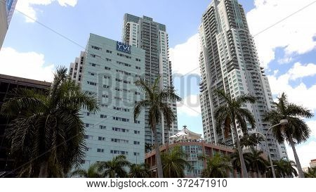 Skyscapers At Miami Bayside Donwtown Miami - Miami, Florida April 10, 2016
