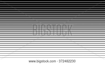 Striped Monochrome Background. Black Straight Lines From Thick To Thin.stripe Texture.
