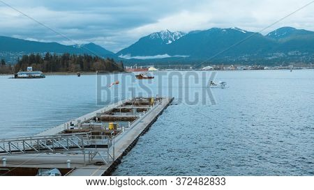 Amazing Vancouver Harbour - View From Canada Place - City Of Vancouver, Canada - April 11, 2017