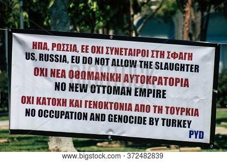 Limassol Cyprus June 20, 2020 View Of The Political Meeting Of The European Democratic Kurdish Socie