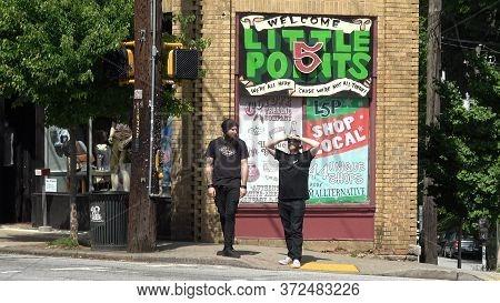 Famous Little Five Points Quarter In Atlanta - Atlanta, Georgia - April 22, 2016