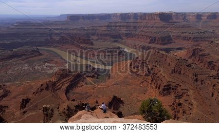 Famous Dead Horse Point In Utah - A Tourist Attraction- Utah, United States - March 20, 2019