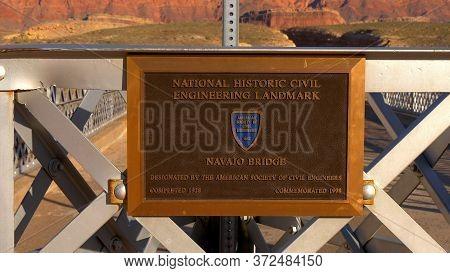 Navajo Bridge In Utah- Utah, United States - March 20, 2019