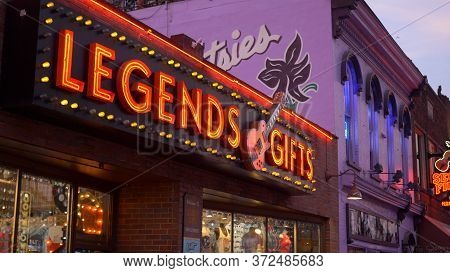Legends Gifts Shop On Nashville Broadway - Nashville, Usa - June 17, 2019