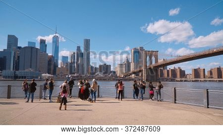 Pier 1 In Brooklyn At Brooklyn Bridge New York - New York City, United States - April 2, 2017