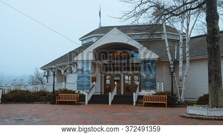 Famous Mystic Seaport In Mystic - Mystic, United States - April 6, 2017