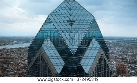 Two Liberty Plaza Tower In Philadelphia - Aerial View - Philadelphia, United States - April 7, 2017