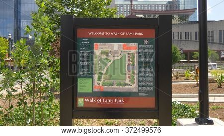 Welcome To Walk Of Fame Park In Nashville - Nashville, Usa - June 17, 2019