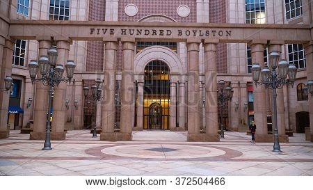 Five Hundred Boylston Building In Boston - Boston. Usa - April 5, 2017