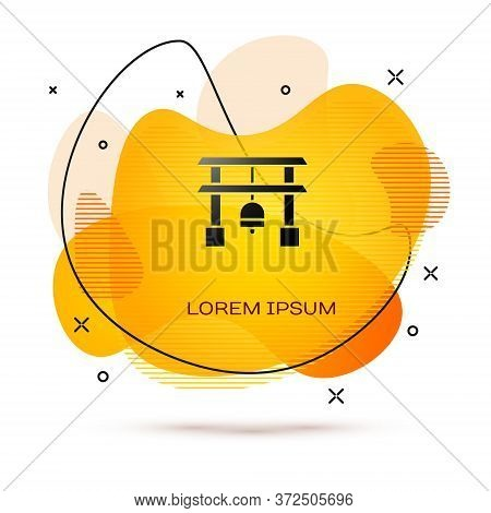 Black Japan Gate Icon Isolated On White Background. Torii Gate Sign. Japanese Traditional Classic Ga