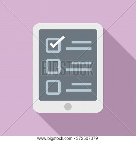 Online Questionnaire Icon. Flat Illustration Of Online Questionnaire Vector Icon For Web Design