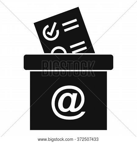 Survey Carton Box Icon. Simple Illustration Of Survey Carton Box Vector Icon For Web Design Isolated
