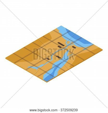 Egyptian Map Icon. Isometric Of Egyptian Map Vector Icon For Web Design Isolated On White Background