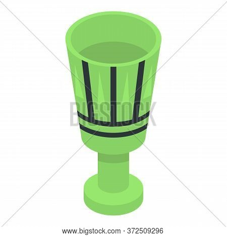 Pharaoh Green Cup Icon. Isometric Of Pharaoh Green Cup Vector Icon For Web Design Isolated On White
