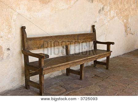 Bench At San Juan Capistrano Mission