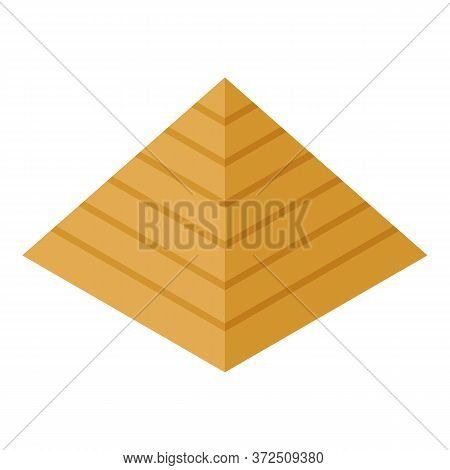 Egyptian Pyramid Icon. Isometric Of Egyptian Pyramid Vector Icon For Web Design Isolated On White Ba
