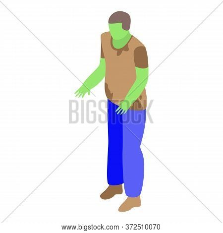 Fear Zombie Icon. Isometric Of Fear Zombie Vector Icon For Web Design Isolated On White Background