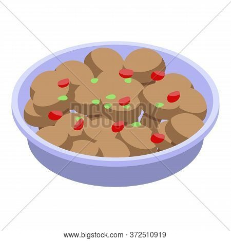 Boiled Potatoes Icon. Isometric Of Boiled Potatoes Vector Icon For Web Design Isolated On White Back