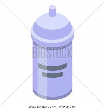 Flour Kitchen Pot Icon. Isometric Of Flour Kitchen Pot Vector Icon For Web Design Isolated On White