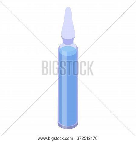 Syringe Ampule Icon. Isometric Of Syringe Ampule Vector Icon For Web Design Isolated On White Backgr