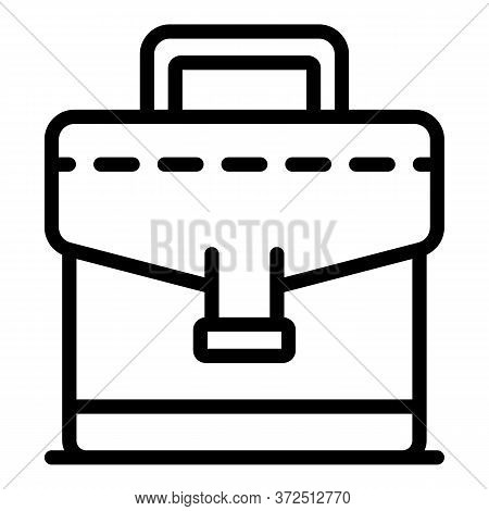 Tax Inspector Bag Icon. Outline Tax Inspector Bag Vector Icon For Web Design Isolated On White Backg