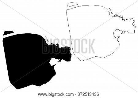 Kaduwela City (democratic Socialist Republic Of Sri Lanka, Western Province) Map Vector Illustration