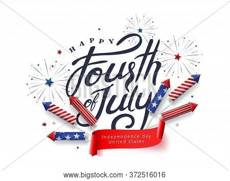 Independence Day Usa Banner Template .4th Of July Celebration Poster Template.fourth Of July.