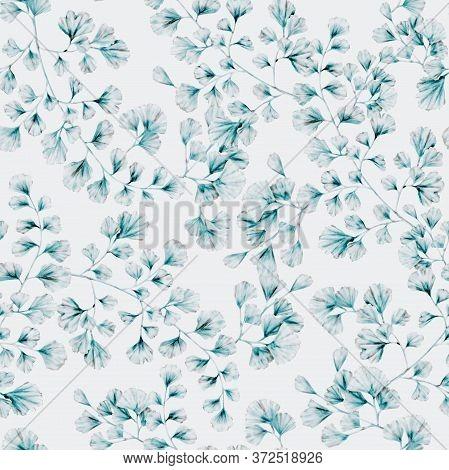Watercolor Leaves Branch Seamless Repeat Pattern, Transparent Leaf, Home Deco, Wallpaper Pattern, Li
