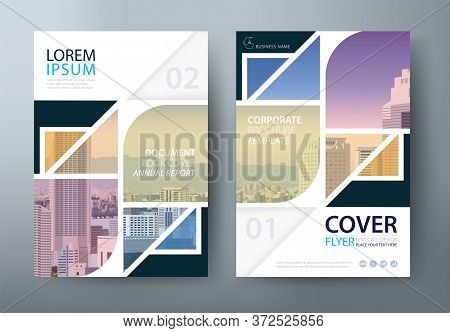 Annual Report Brochure Flyer Design Template, Leaflet, Presentation Book Cover Templates, Layout In