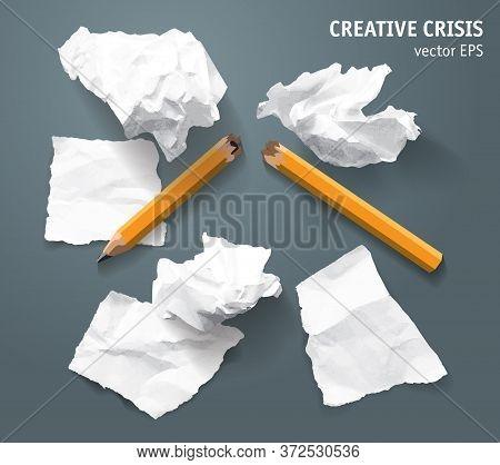 Torn Paper Lumps Broken Pencil Creative Crisis