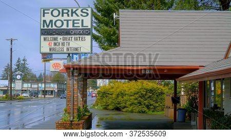 Forks Motel In The City Of Forks - Forks, Washington - April 13, 2017