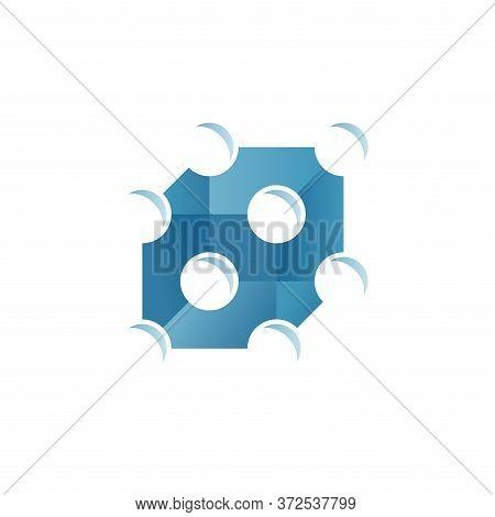 Crystal Molecular Solid Cell Icon - Creative Scientist Physics Emblem