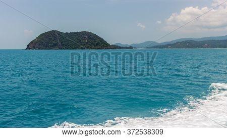 Koh Phangan, Thailand Island Pier View, Water Waves